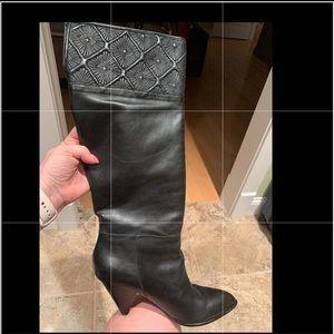 Full length high heel boots